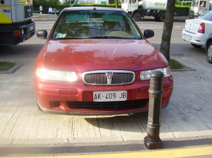 Roemeense auto met Italiaans nummerbord