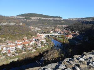 Uitzicht vanaf de Starevets in Veliko Turnovo